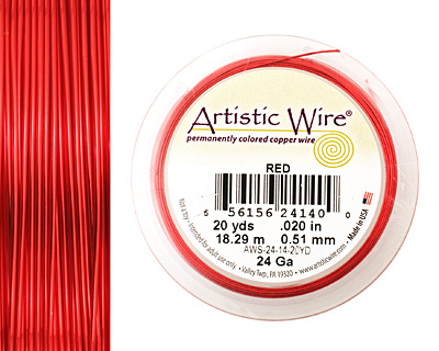 Artistic Wire Red 24 gauge, 20 yards