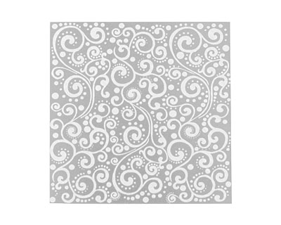 Lillypilly Silver Scrolling Vine Anodized Aluminum Sheet 3