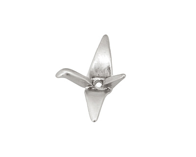 Ezel Findings Rhodium (plated) Crane 17x22mm