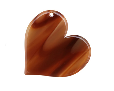 Zola Elements Brown Sugar Acetate Heart Focal 35mm