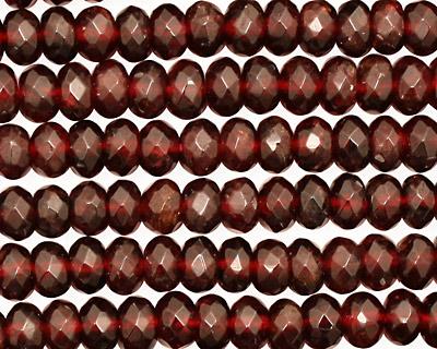 Garnet Faceted Rondelle 6mm