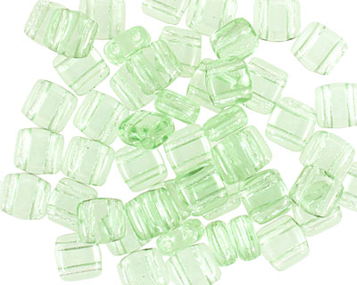 CzechMates Glass Peridot 2-Hole Tile 6mm