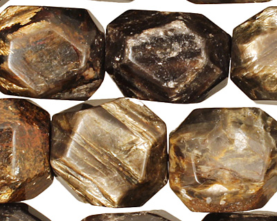 Golden Mica Faceted Nugget 17-20x12-18mm