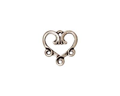 TierraCast Antique Silver (plated) 3-1 Vine Heart Chandelier 13mm