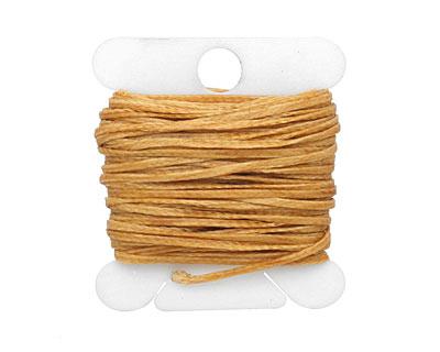 Butterscotch Waxed Nylon Flat Braided Cord 1mm