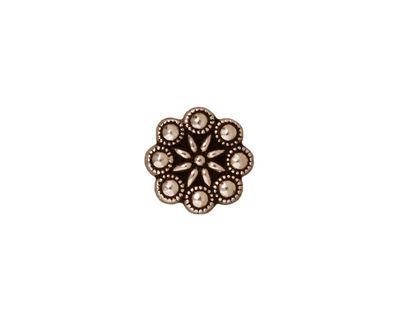TierraCast Antique Silver (plated) Czech Rosette Button 11mm
