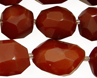Carnelian Faceted Tumbled Nugget 15-23x11-20mm