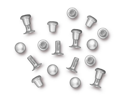 TierraCast Silver (plated) Compression Rivet Set 4mm