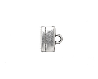 Antique Silver (plated) Rectangle Loop End 10x12mm