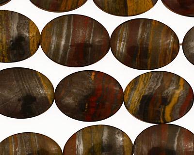 Tiger Iron Flat Oval 20x15mm