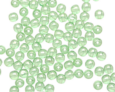 Czech Glass Luster Peridot Round 4mm