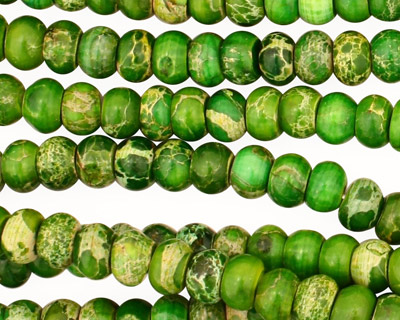 Green Impression Jasper Rondelle 6mm