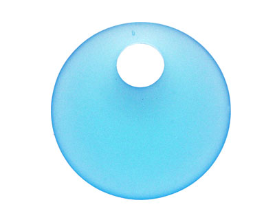 Turquoise Bay Recycled Glass Off Center Donut 30mm