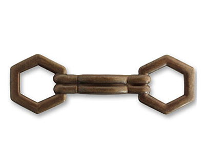 Vintaj Natural Brass Buckle Slide 47x15mm