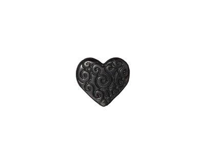TierraCast Gunmetal Heart Scroll Bead 10x11mm