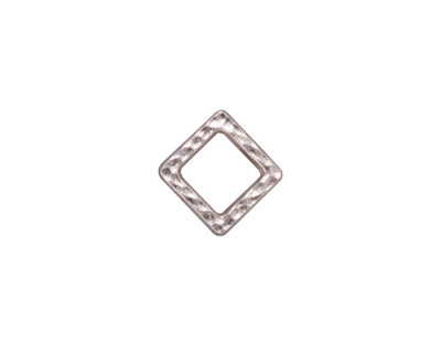 TierraCast Rhodium (plated) Small Hammered Square Link 10mm