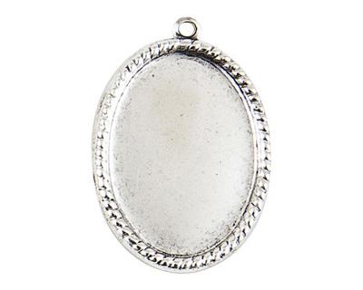 Nunn Design Antique Silver (plated) Vetri Beaded Oval Frame 23x32mm