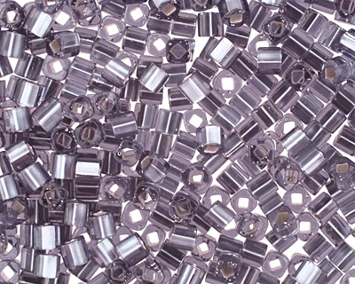 TOHO Light Tanzanite (with Frosted Silver Lining) Cube 3mm Seed Bead