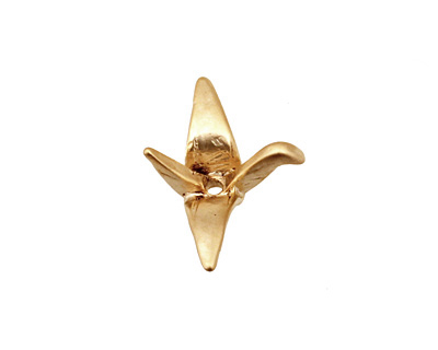 Ezel Findings Gold (plated) Crane 17x22mm