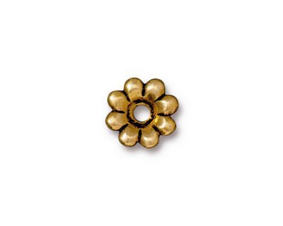 TierraCast Antique Gold (plated) Flower Rivetable 11mm