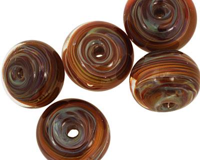 Sea Shore Glass Desert Night Boro Lampwork Glass 10-13x16-18mm