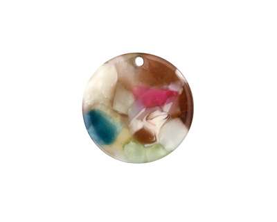 Zola Elements Garden Party Acetate Coin Charm 20mm