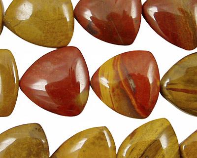 Golden Wooden Jasper Triangle 15mm