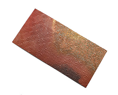 Lillypilly Rojo Psychedelic Embossed Patina Copper Sheet 3