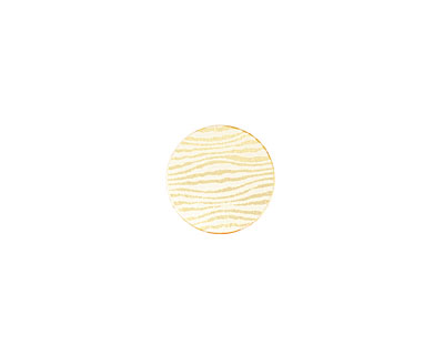 Lillypilly Gold Zebra Anodized Aluminum Disc 11mm, 22 gauge