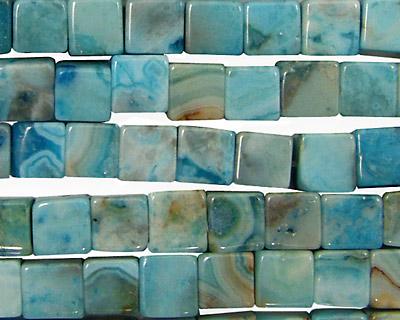 Larimar Blue Crazy Lace Cube 6mm