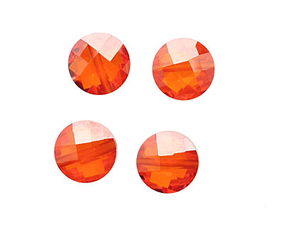 Poppy Faceted Coin 10mm
