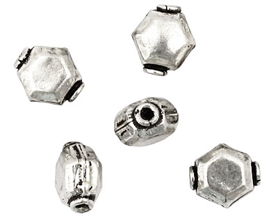 Silver (plated) Hexagon 12x11mm