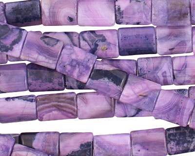 Purple Wave Agate Thin Pillow 10x8mm