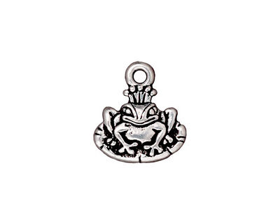 TierraCast Antique Silver (plated) Frog Prince Charm 15x16mm