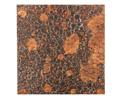 Lillypilly Mottled Pebbles Embossed Patina Copper Sheet 3