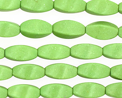 Apple Green Magnesite 4 Sided Rice 12x6mm