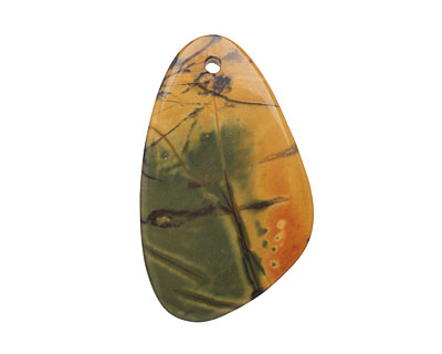Purple Artistic Stone Freeform Drop Pendant 30-35x42-54mm