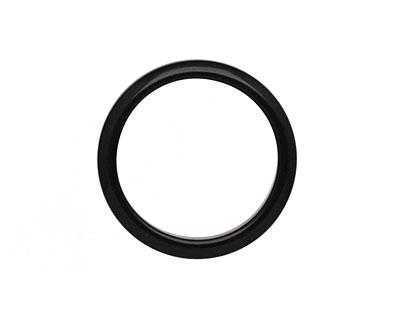 Tagua Nut Black Ring 22mm