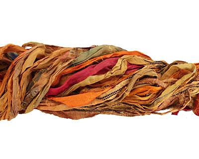 Golden 100% Silk Sari Ribbon