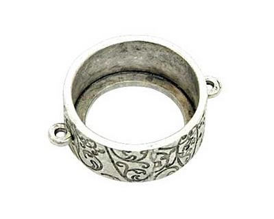 Nunn Design Antique Silver (plated) Large Circle Open Bezel Link 30x24mm