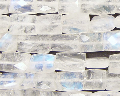 Moonstone (rainbow) Faceted Pillow 10-15x8-10mm