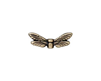 TierraCast Antique Brass (plated) Dragonfly Wings 7x20mm