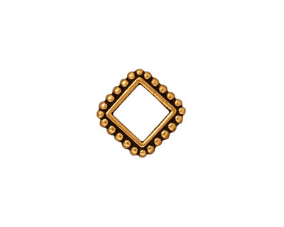 TierraCast Antique Gold (plated) 6mm Diamond Bead Frame 14mm