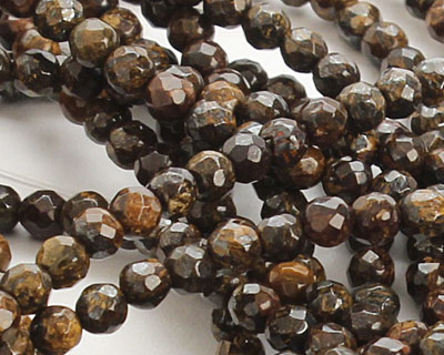 Bronzite Faceted Round 3-4mm