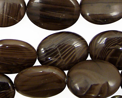 Antique Jasper Flat Oval 20x15mm
