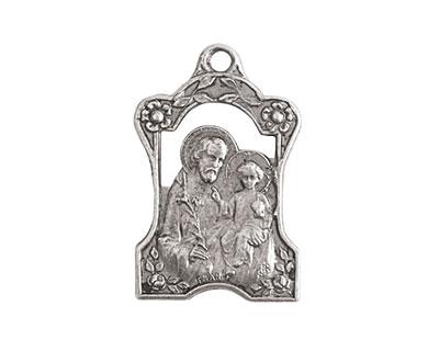 Nunn Design Antique Silver (plated) Tutor Medallion 16x28mm