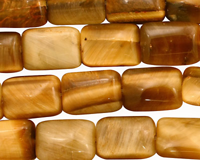 Honey Tiger Eye Thin Pillow 14x10mm
