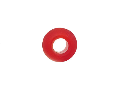Cherry Red Recycled Glass Rondelle (large hole) 14x10mm