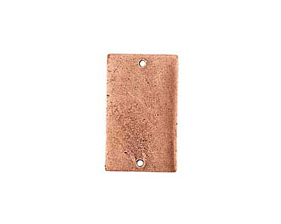Nunn Design Antique Copper (plated) Flat Large Rectangle Tag Link 30x18mm