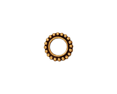 TierraCast Antique Gold (plated) 6mm Round Bead Frame 11mm